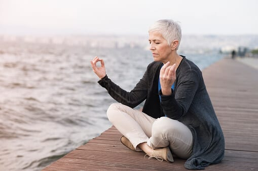 Her yoga practice is one of many coping skills for addiction recovery.