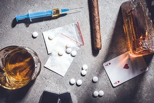 Patterns of addictive behavior may include many types of addictive substances