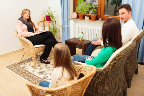 family in therapy